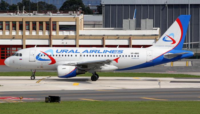 Airbus A319 Авиакомпании Уральские Авиалинии